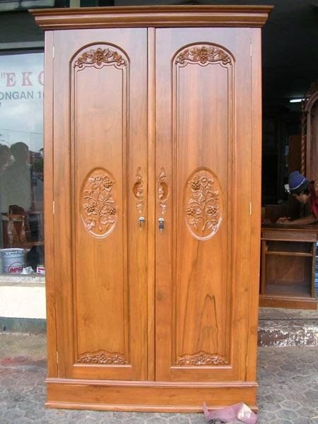 Jati Furniture Minimalis: Almari Pakaian Jati 2 Pintu