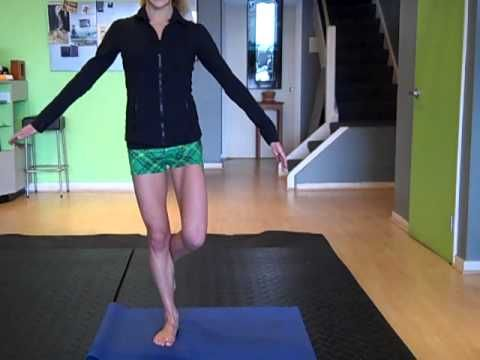 Help for Shin Splints. Free Online exercise to prevent and treat shin pain. Join fitness pro, Caroline Jordan for this quick 5 minute shin splint pain prevention workout. This video is appropriate for all levels and involves a some of the best moves to help treat and prevent shin splints. A short, easy combination of toe raises, calf raises, and stability work to strengthen the ankles, feet, legs and shins.