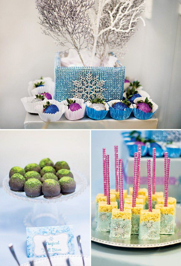 """""""Let it Go"""" Frozen Birthday Party {Childhood Cancer Awareness}"""