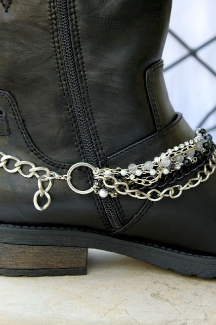 Boot Bracelets~ Layers of gemstones, pearls, rhinestone, chains and more. Adjustable!