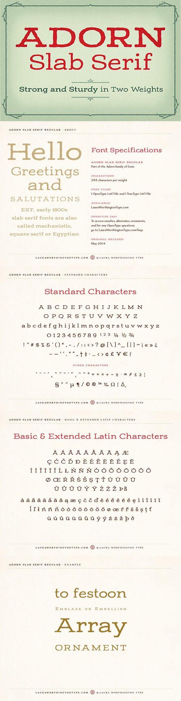 Adorn Slab Serif Bold. Slab Serif Fonts. $20.00