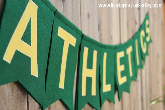Oakland Athletics Baseball Felt Banner via Etsy