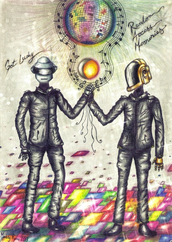 Daft Punk-Get lucky by Madelyne Rusu, via Behance