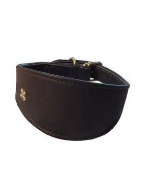 COLLAR LEVRIERS NEGRO,Collar para perro de piel de cordero de la firma Bobby.http://bit.ly/1MqMbzG