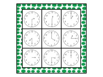 Time Bingo - Whole Class Set (33 BINGO BOARDS). Sale on 12/2 to 12/3! Use the code CYBER to get an extra % off!