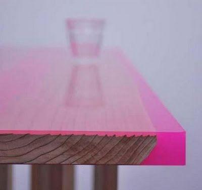 Jo Nagasaka Of Schemata Architecture Office: Coloured Resine Table, Japan.
