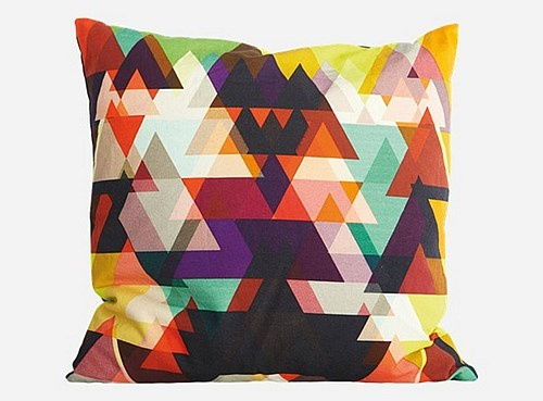 House Doctor Triangle Kussen 50 x 50 cm - Rood