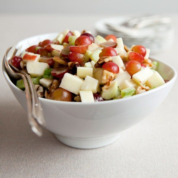 Waldorf Salad-can add chicken to make a meal; other variations include w/ raisins or mini marshmallows