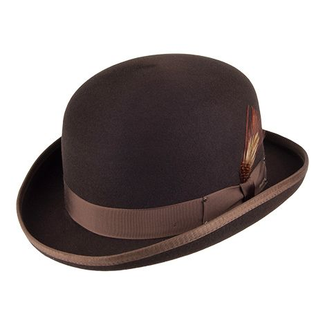 Bailey Hats Derby II - Brown from Village Hats.
