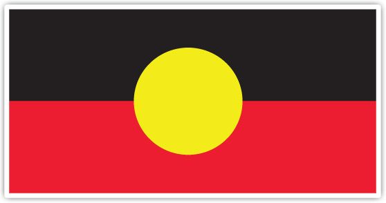 """The #Aboriginal Flag - """"     Black: Represents the Aboriginal people of #Australia     Yellow: Represents the Sun, the giver of life and protector     Red: Represents the red earth, the red ochre and a spiritual relation to the land"""""""