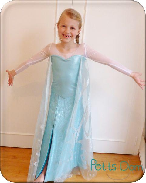Patron robe reine des neiges 8 ans