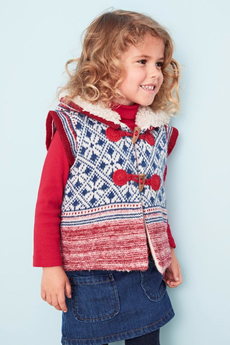 Buy Vest with Norwegian pattern, red (3 months to 6 years) today online Next: Germany