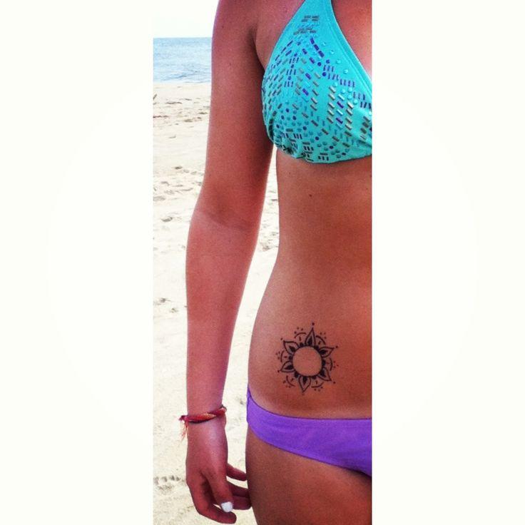 Sun henna tattoo | Permanent | Pinterest | Henna, Sun and ...