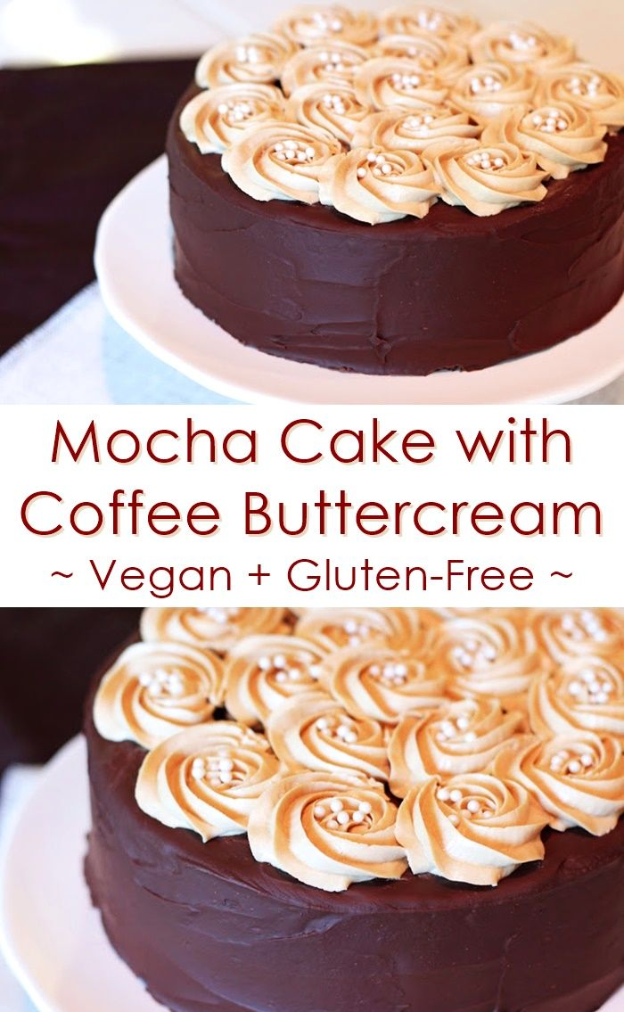 Gluten Free Mocha Cake With Vegan Coffee Ercream