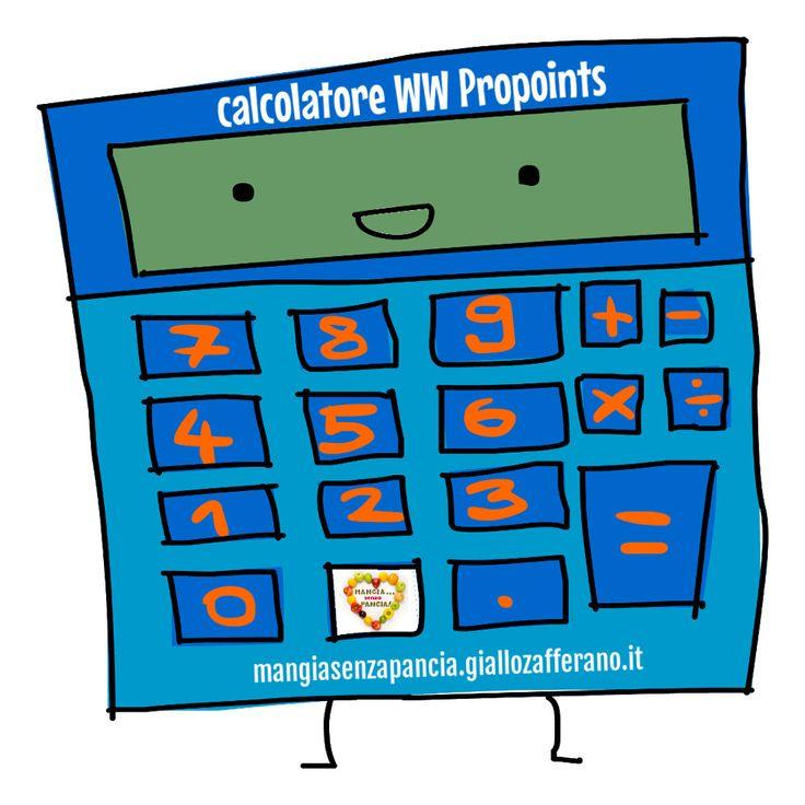 Un semplice Calcolatore Punti Weight Watchers Propoints per calcolare i punti degli alimenti da inserire nel proprio diario alimentare
