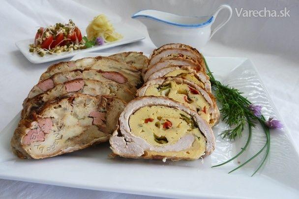 Mäsová roláda plnená omeletou (fotorecept)