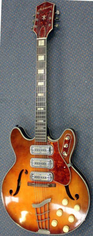 early 60s Harmony H-77 Archtop Electric Guitar --- https://www.pinterest.com/lardyfatboy/