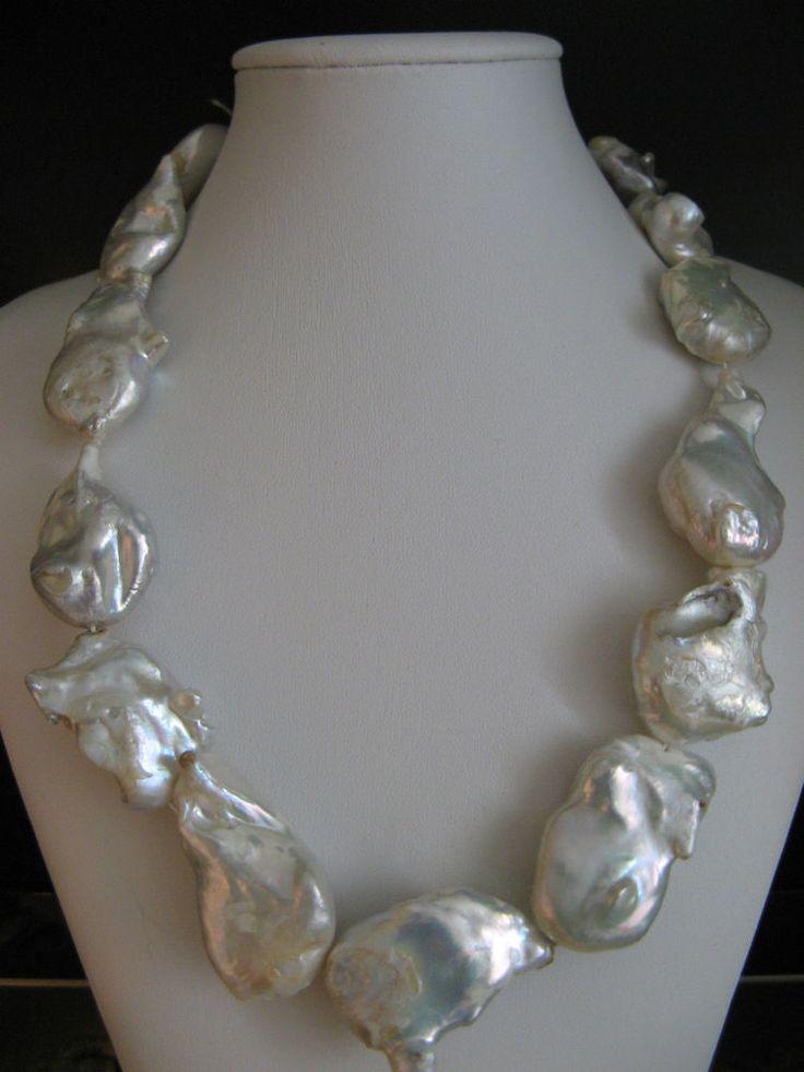 Collana donna Perle Scaramazze Barocche ,Chiusura in Argento ,lunghezza cm.54   Orologi e gioielli, Diamanti e gemme, Perla   eBay!