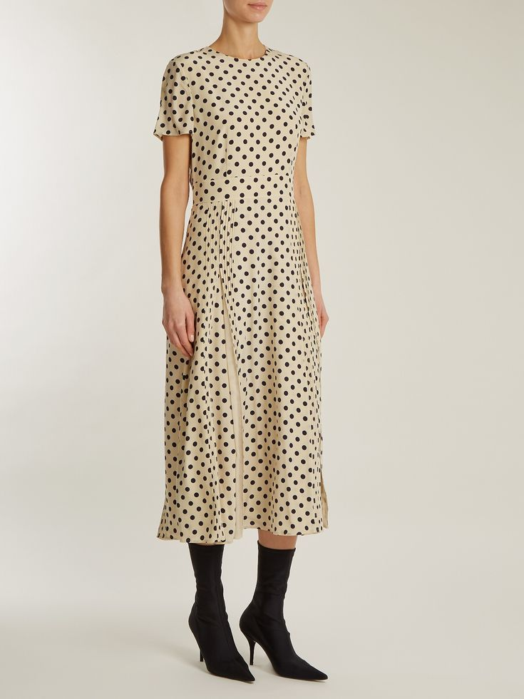Corin polka-dot print silk dress | Burberry | MATCHESFASHION.COM UK