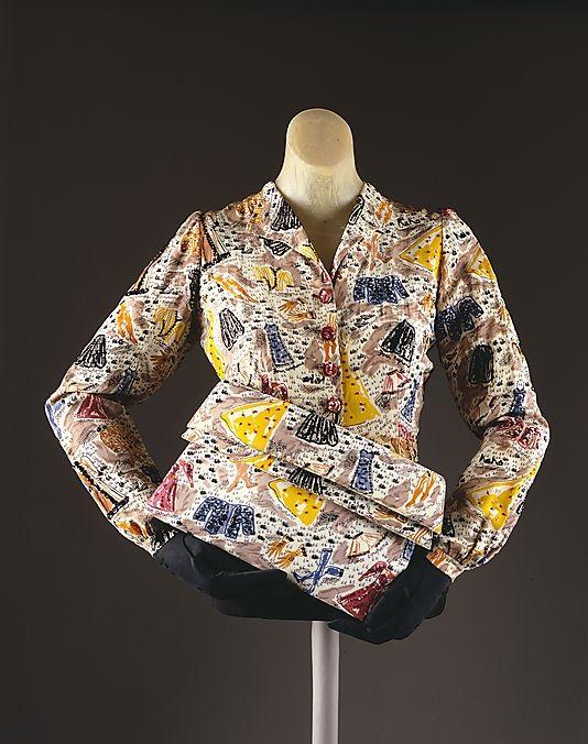 1940s wartime rationing blouse and handbag - SO clever! Vintage Elsa Schiaparelli ..naturally