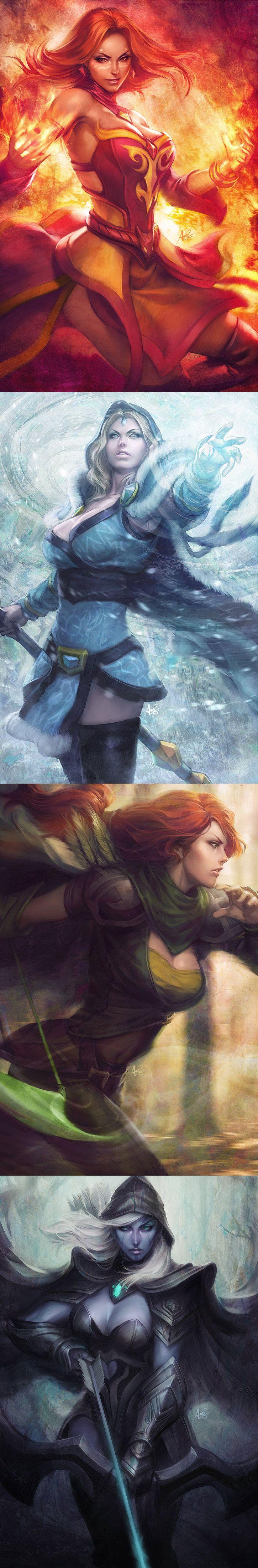 DotA2 Heroines by Artgerm Stanley Lau