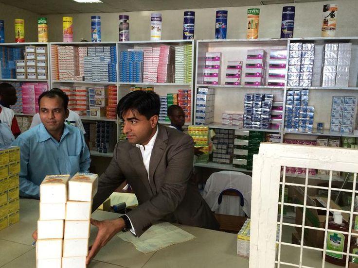 Abbas Virji, Co-CEO of Shalina Healthcare, serves customers at one of the Shalina depots in Luanda, Angola 2