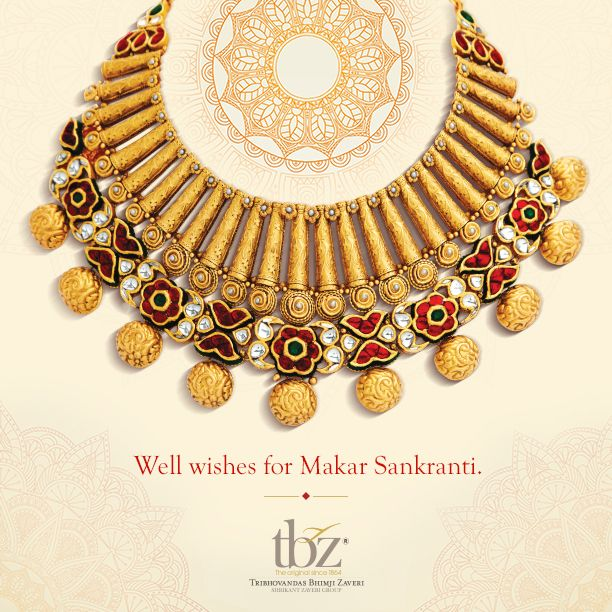 Have a day full of #celebrations. #HappyMakarSankranti #TBZ #Jewellery #India #Gold #Diamond #Necklace #Festival
