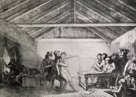 The hayloft in Graccus Street where Calvert's plot was foiled.