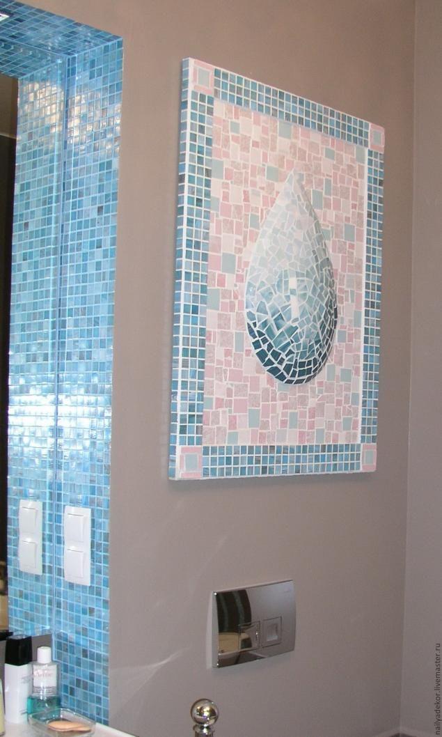 """Декор на стену """"Мозаичная Капля"""" - Ярмарка Мастеров - ручная работа, handmade"""