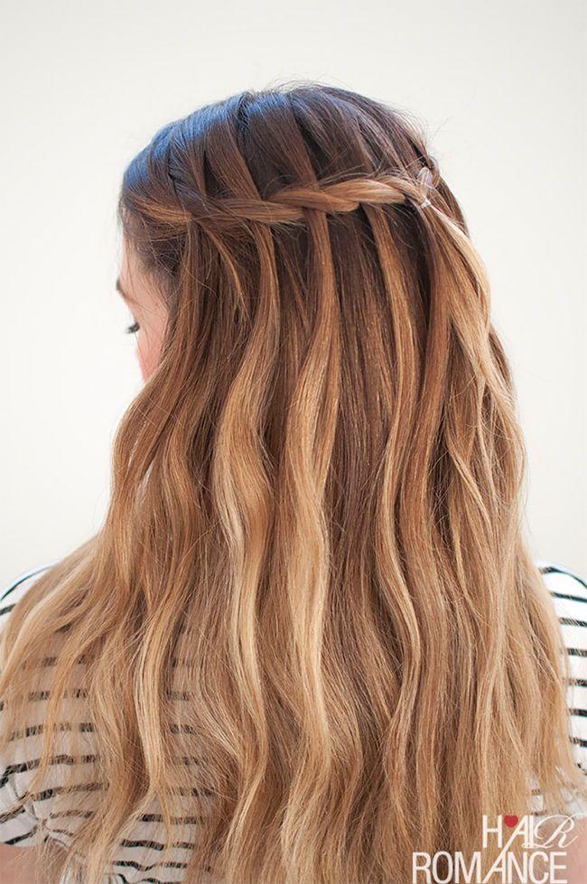7 Waterfall Braid Tutorials For Perfect Summer Hair