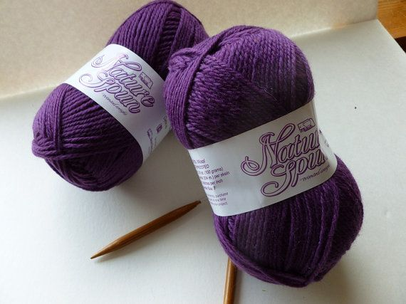 Crocheting Yarn For Sale : Yarn Sale Mountain Purple Nature Spun by Brown by FeltedforEwe, $4.00