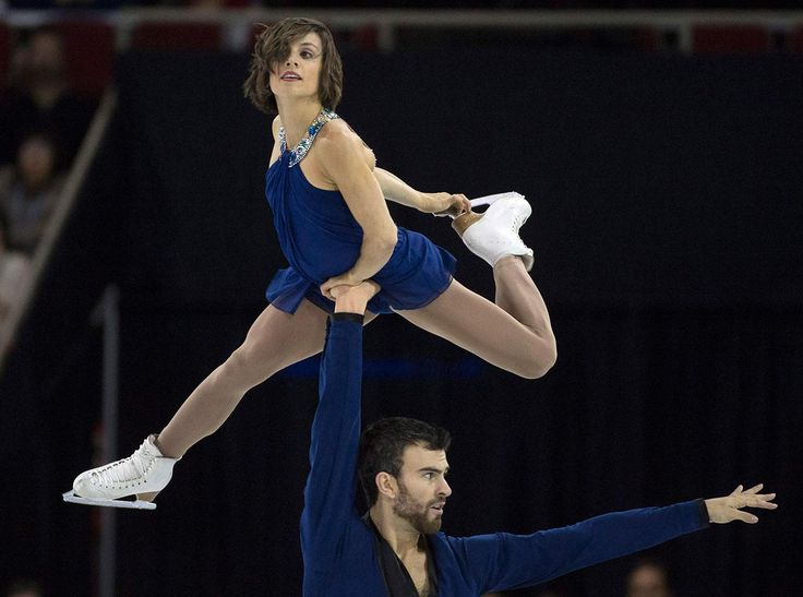 Meagan Duhamel and Eric Radford during their pairs free program at Skate Canada International on October (1340×996)