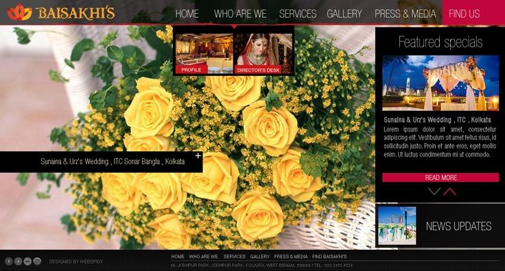 jQuery Based Responsive Florist website #responsive #design