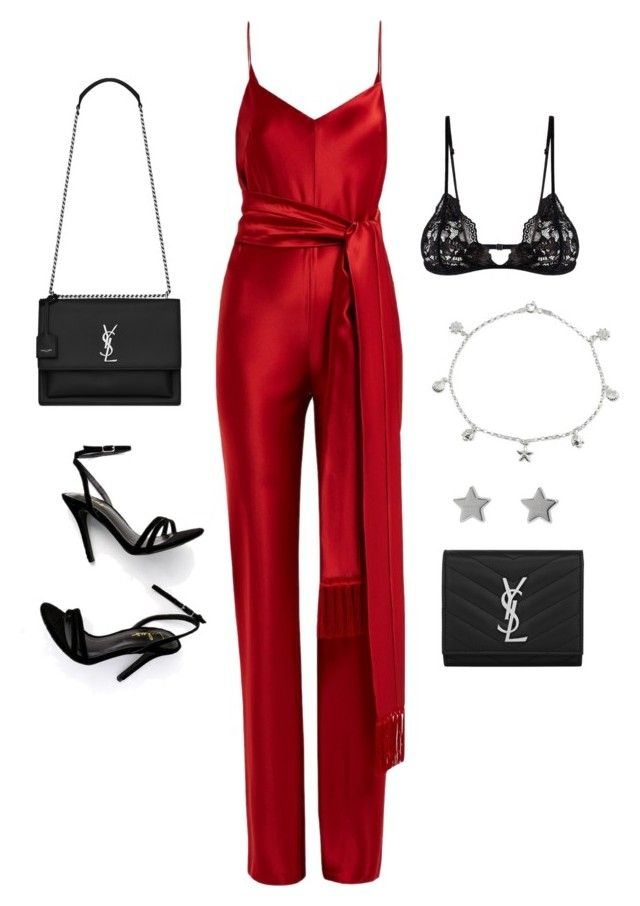 """""""Untitled #23494"""" by florencia95 ❤ liked on Polyvore featuring LULUS, Galvan, Yves Saint Laurent, Mosmann, Giani Bernini and Gucci"""