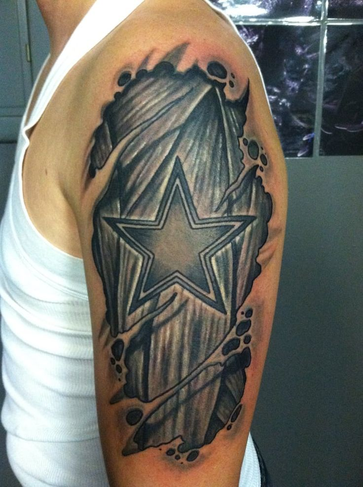 Dallas cowboys Tattoo star under skin At Dallas Tattoo Addison ...