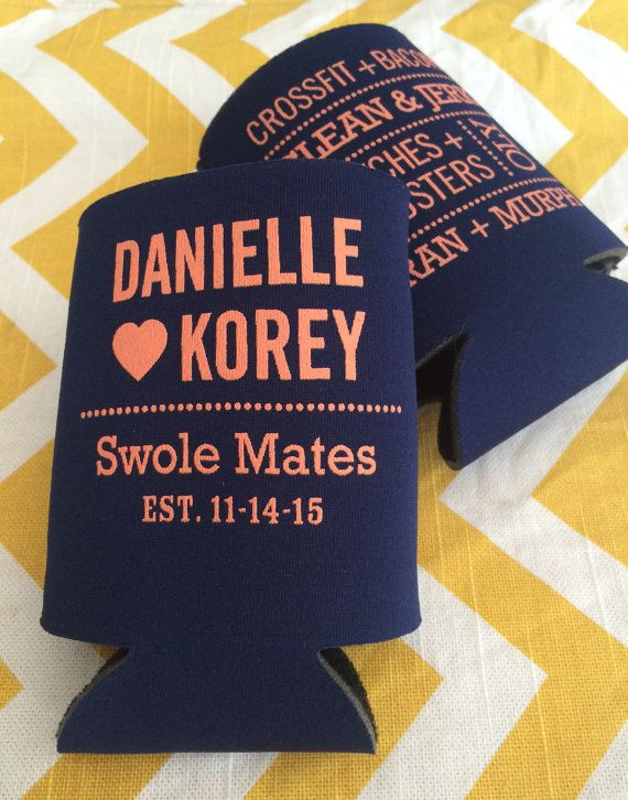 Crossfit wedding can cooler Swole Mates funny by RookDesignCo