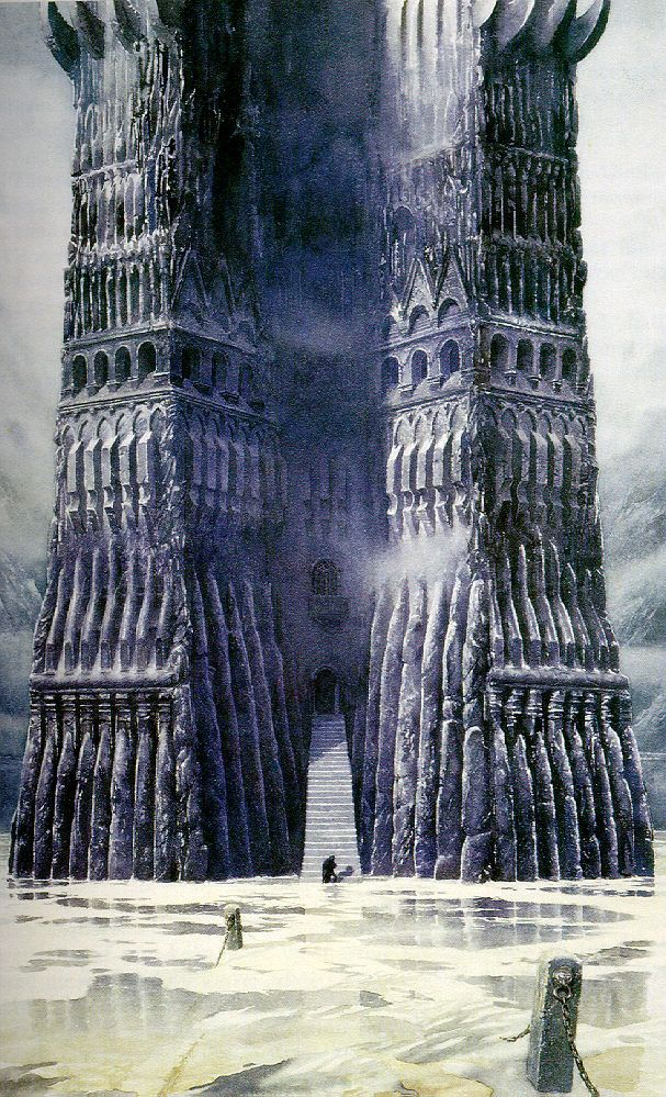 "Orthanc - Alan Lee For the movie, Peter Jackson said ""I need you to draw me the rest of it."" And it was done."