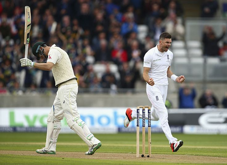 What a beauty. After lords disaster a week back, Anderson uses wobbly seam to leave Australian batsmen clueless and take a 5-fer on the first day of the third test at Edgbaston. Immediately the lunch, he had Adam Voges and Mitchell Marsh caught behind in consecutive overs.