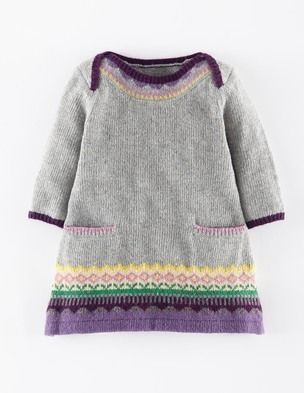 Fair Isle Knitted Dress 71384 Dresses at Boden