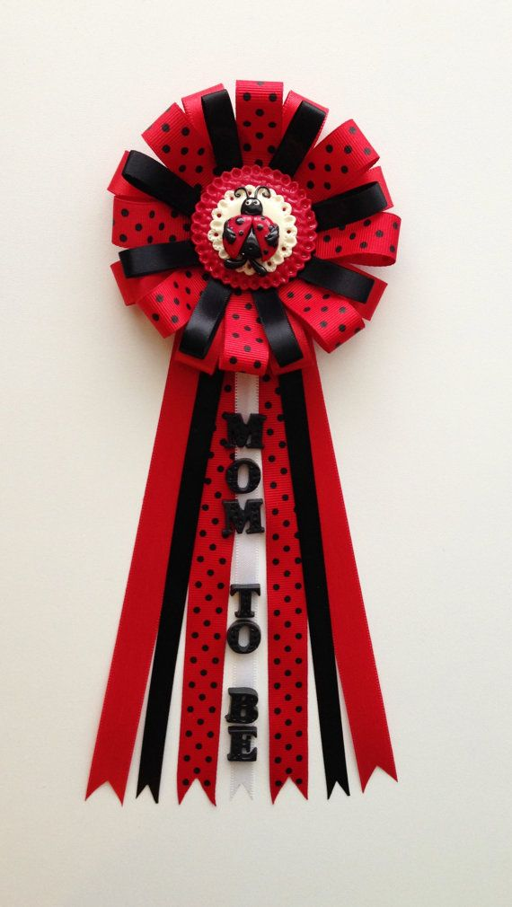 lady bug theme baby shower pincorsage mom to be corsagecold