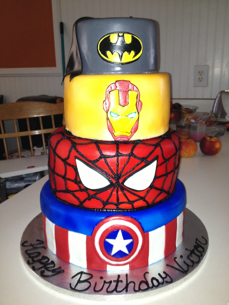 super heros cake i needed this two weeks ago