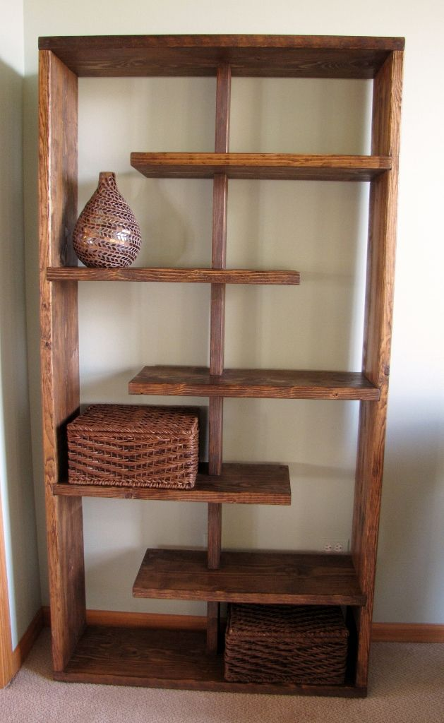 rustic elements furniture staggered bookcase diy