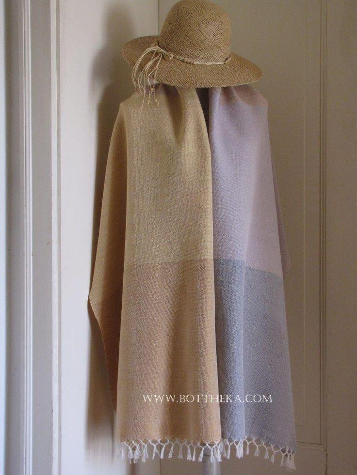 wool, yarn, vegetable dyeing, blueberrry, alkanna, frangula's bark, weaving. stole, drapery, blanket, beach towel http://bottheka.com/en/vdw-i