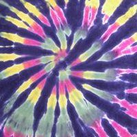Learn How To Tie Dye this Rastaman Spiral on Black Tie Dye T-Shirt!