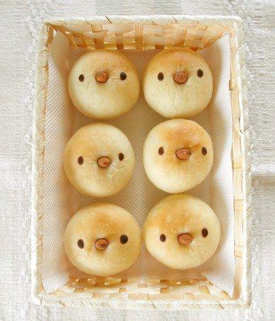 Bread Rolls with Birdie Faces