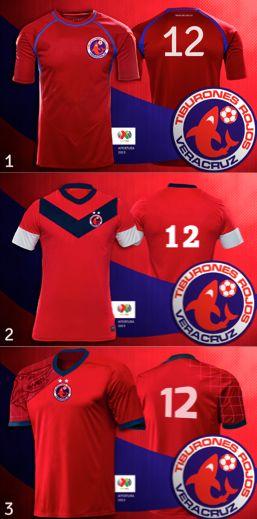 Vota por el jersey oficial de nuestro equipo apra el Apertura 2013 en @Tiburones Rojos de Veracruz utiliza el hastag #MasFuertesQuenunca