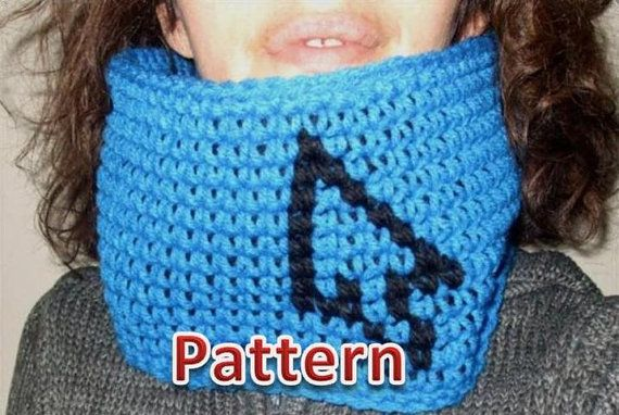GEEK WEAR Cursor Cowl Pattern Point your Hook here by TiStephani, $1.00