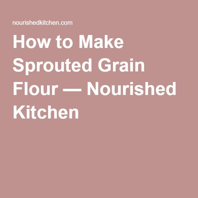 How to Make Sprouted Grain Flour — Nourished Kitchen