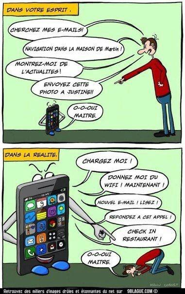 le portable et l'imperatif !