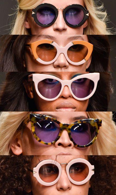 Eyewear @ Karen Walker F/W 2015 http://www.visiondirect.com.au/designer-sunglasses/Karen-Walker/?utm_source=pinterest&utm_medium=social&utm_campaign=PT post
